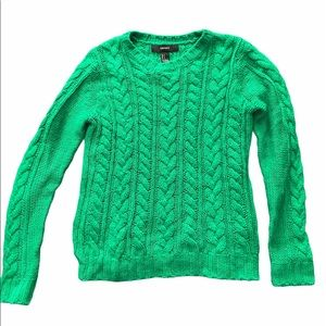 Forever 21 Emerald Green Cable Knit Sweater